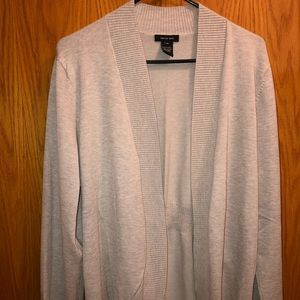 Women's open front cream/tan cardigan size XL